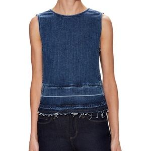 Theory Reli D Sleeveless Releasedhem Denim Top